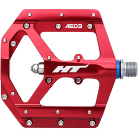 HT AE03 EVOFlat Pedals, red